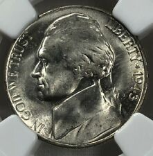 1943 S  NGC MS66 Jefferson Silver Nickel 5c ~ Choice Brilliant Uncirculated