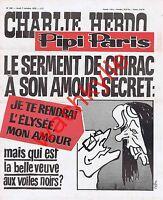 Charlie Hebdo n°308 du 07/10/1976 Chirac Pompidou Cabu Boulangerie Charenton