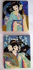 """Stunning Rare """"Asia"""" Bridge Set w/ Chinese Lanterns for Tallies *"""