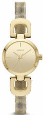 DKNY NY2101 Gold Dial Gold Tone Stainless Steel Mesh Women's Watch
