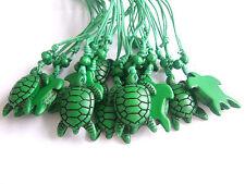 Wholesale Lot 12pcs Green Sea Turtle Pendant Necklace