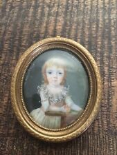 Miniature 1786 Petite Fille avec Pomme/French Portrait 1786 Girl with Apple