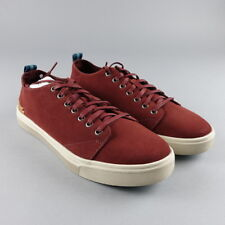 8f34ee05638 TOMS Size 9 Mens Sneakers Low Top Lace-Up Shoes Casual Fashion Suede Red NEW