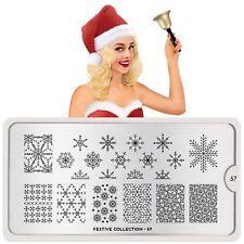 MoYou London FESTIVE 57 Collection Stamping Schablone Schneeflocke Weihnachten