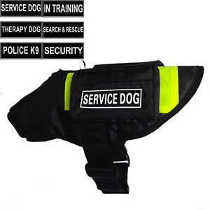 SERVICE DOG Vest Harness with POCKETS & Side Bags label Patches IN TRAINING