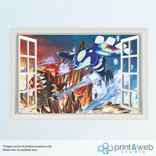 Pokemon Alpha And Omega 3D Window View Decal Wall Sticker Home Decor Art Mural