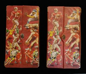 Lot of 2 - 1970s TOPPS SPORTS STORAGE LOCKERS CASES + 50 BASEBALL FOOTBALL CARDS