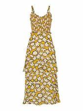 WHISTLES Ladies Nyla Floral Print Silk Dress White Multi Yellow UK16 BNWT RRP299