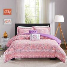 BEAUTIFUL MODERN CHIC PINK PURPLE TROPICAL BOHEMIAN GIRLS SOFT COMFORTER SET