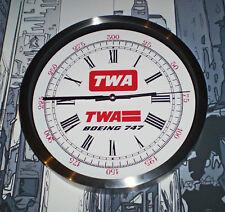 Trans World Airways TWA, Boeing 747 Wall Clock, Retro 1970-80's Vintage Dial.
