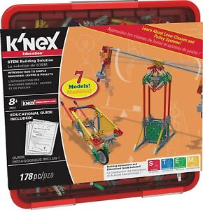 K'NEX Education - Intro to Simple Machines: Levers and Pulleys Set – 178 pieces