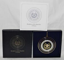Rare SEAL of DAUGHTERS of REPUBLIC of TEXAS Christmas Ornament in BOX Vintage