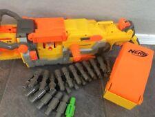 Nerf N strike Vulcan EBF-25 Machine Gun With Ammo Belt Ammo Box & Tripod