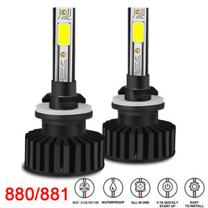 Pair 880 881 LED 80W Car Headlight Bulbs Conversion Kit White 14000LM Fog Light