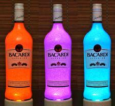 Bacardi  Rum Color Changing Remote Control Liquor Bottle Lamp Bar Light Jamaica