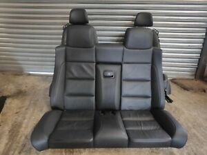VW EOS HEATED BLACK LEATHER INTERIOR SEAT FRONT + REAR GOOD CLEAN CONDITION