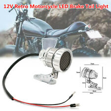 12V Retro Motorcycle Tail Light LED Brake Rear License Plate Integrated Light