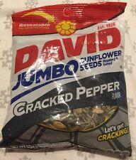 DAVID JUMBO SUNFLOWER SEEDS CRACKED PEPPER FLAVORED roasted salted 5.25oz Reseal
