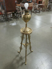 """Antique Elegant Ornate Electrified Brass Piano Lamp Stand 50"""" high"""