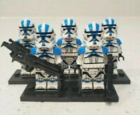 5 Custom 501st Legion Clone Trooper Minifigures Star Wars for Lego - USA SELLER