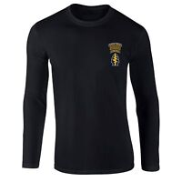 Ranger Airborne T-shirt, Us Army Special Forces Inspired Embroidered Longsleeve