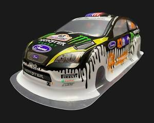 1/10 RC Silver Body Shell Ford Focus Monster Energy