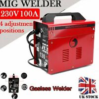 Portable Gasless MIG Welder 130 Amp Auto Flux Wire Feed Welding Machine 240V Kit
