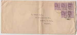 BRITISH GUIANA 1927 multi franked cover *GEORGE TOWN-LONDON*