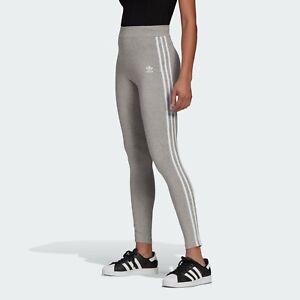 Adidas Originals Women's Adicolor Classics 3-Stripes Tights Grey GN4506 f