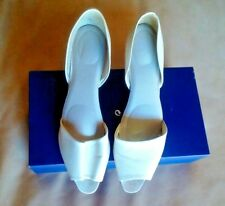 Nickels, Open-Toe, Open Sides, Shoes, Ivory, leather, 9AA