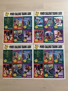 Nintendo Power Challenge Trading Cards 4 Uncut Sheets Battletoads Dragon Mario