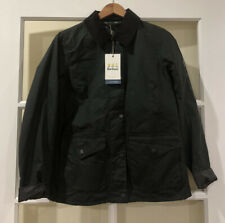 Barbour Women's Shoreline Water Resistant Waxed Cotton Jacket Green 6 US $375