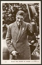 British Royalty. The Prince of Wales Raises his Hat!. Photo Postcard