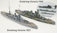 1:700 Drottning Victoria 1921/1945, Sverige-class, 3D printed kit, WaterLine