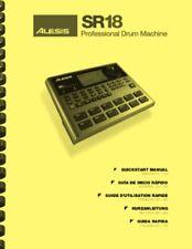 Alesis SR18 Digital Drum Machine REFERENCE MANUAL & QUICK START MANUAL