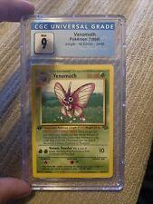 CGC 9 Mint 1999 Venomoth 1st Edition Jungle Pokemon Card #29/64