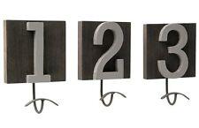 Portemanteaux en bois set de 3 chiffres 1, 2 et 3 portemanteau