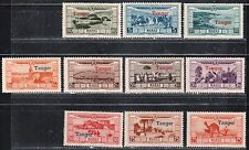 1929 French colony stamps, Tanger Morocco, full set MH, SC CB11-20