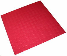 Fuschia Red Indoor Highest Quality Round Stud Rubber Flooring Tiles 500 x 2.6mm
