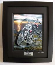 Easy Rider Harley Davidson Chopper Ltd Edition Framed Motorcycle Art Print by JG
