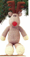 SANTAS CHRISTMAS REINDEER  KNITTING PATTERN     (801)