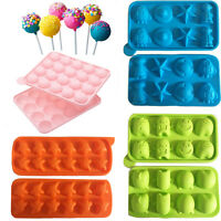 Silicone Cake Mould Lolly Pop Mold Bake Freeze Ice Kid Monster Space Ghost Shape