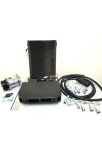 Underdash Street Rod AC Air Conditioning Evaporator Kit Compressor Fittings Hose