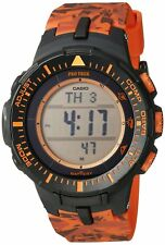 Casio Pro Trek Men's Solar Triple Sensor Camo Resin Band 47mm Watch PRG300CM-4