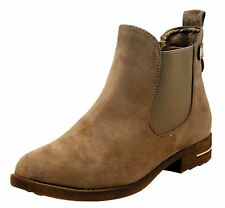 Womens Chelsea Faux Suede Stacked Low Heels Ankle Bootie Buckle Western Boots