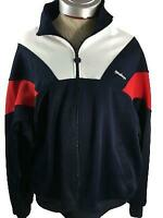McGregor jacket size L large red white blue long sleeve 2 pockets full zip