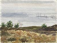 Karl Adser 1912-1995 Fjellerup Strand Sommertag Ostsee Dänemark Skandinavien