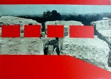 "Menashe Kadishman 1932-2015 ""Red Rocks"" 1974 Hand signed Silkscreen Israel"