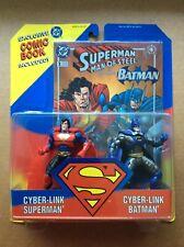 CYBER-LINK SUPERMAN & BATMAN ACTION FIGURE 2-PACK (1995) Kenner/Hasbro; DC Comic