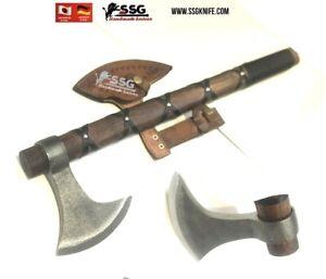 CUSTOM HANDMADE Art Rail STEEL WOOD Throwing  Axe HATCHET TOMAHAWK Knife